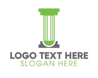 Lawyer - Modern Lab Pillar logo design