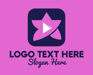 Channel - Pink Youtube Star App logo design