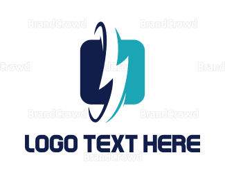 Mobile Phone - Electricity Power App logo design