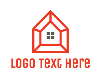 Frame - Orange Frame House logo design