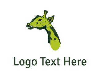 Safari - Green Giraffe logo design