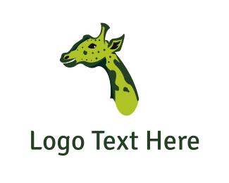 Ear - Green Giraffe logo design