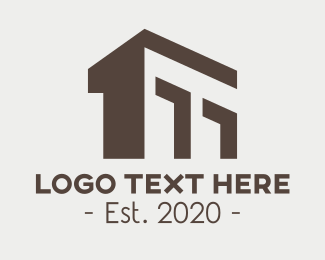 Classical Building - Brown Structural Building logo design