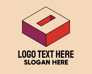 Pop Art - 3D Pixel Letter O logo design