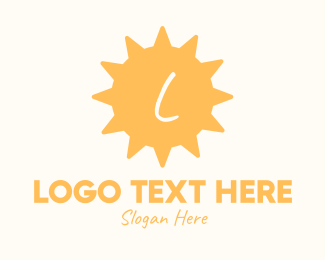 Day - Yellow Tropical Sun Lettermark logo design