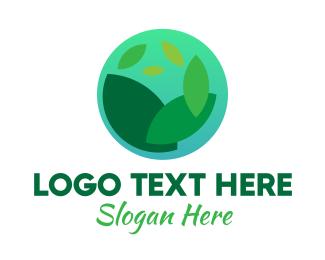 Earth - Earth Leaf logo design