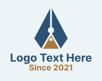 Pen - Mountain Pen Peak logo design