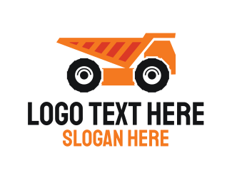 Contractor - Construction Dump Truck logo design