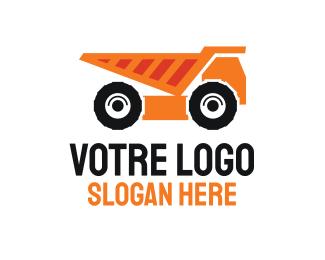 Construction Construction Dump Truck logo design