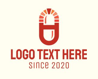 Caplet - Red Medical Drugstore logo design