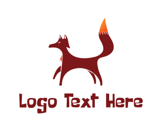 Fox - Red Brown Fox logo design