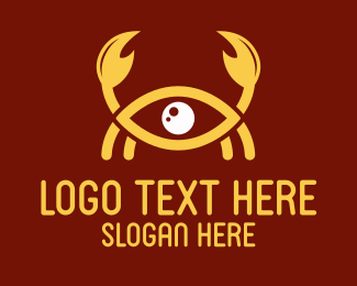 Crustacean - Crab Eye logo design