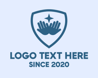 Digital Security - Star Hand Shield logo design