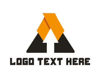 Up - Arrow Triangle logo design