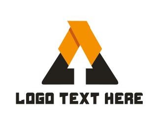 Bus Company - Arrow Triangle logo design