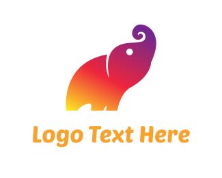 Little - Colorful Elephant logo design