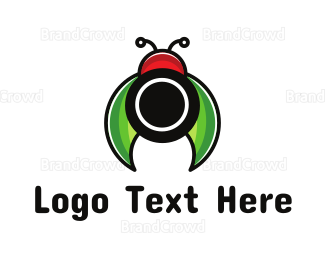 Beetle - Lady Bug Lens logo design