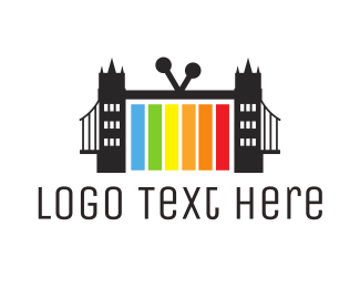 Tv - London Bridge TV logo design