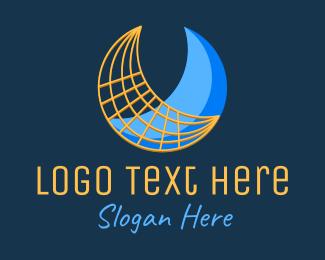 Ocean Life - Fisherman Net logo design