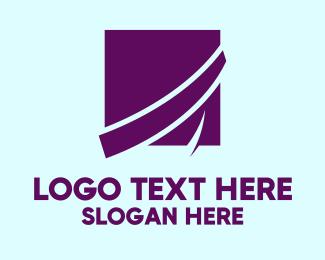 Business - Purple Business Square logo design