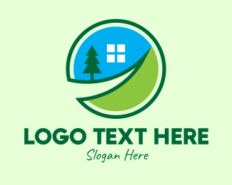Inn - Rural Village Home logo design