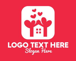 Treehouse - Modern House Love logo design
