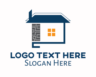Town House - Residential Property Home logo design