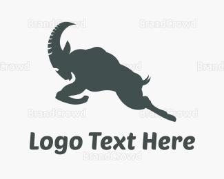Jump - Grey & Strong Ram  logo design