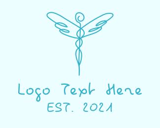 Physician - Blue Medical Mercury logo design