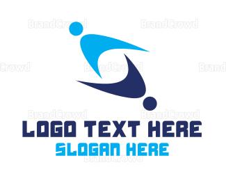 Cooperation - Modern Team gaming logo design