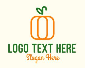 Food Store - Minimalist Pumpkin logo design