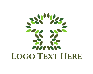 Religion - Natural Cross logo design