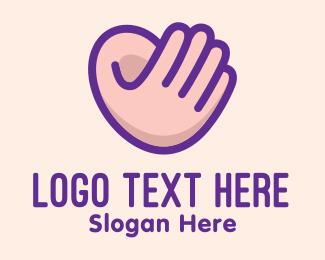 Ear - Hand Ear Sign Language  logo design