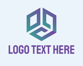 Hexagonal - Purple Cube logo design