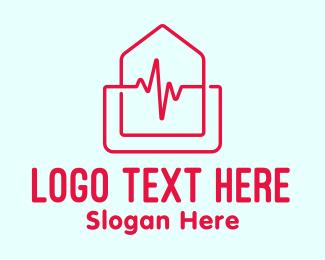Cardiology - Home Cardiology Emergency logo design