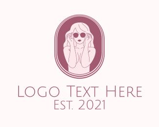 Girl - Pretty Model Girl logo design
