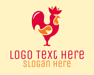 Chick - Red Rooster logo design