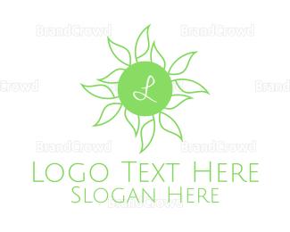 Agricultural - Natural Leaves Lettermark logo design