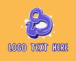 Number - Blockbuster Graffiti Number 8 logo design