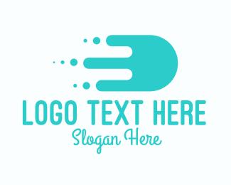 Shipment - Mint Fast Slime Delivery logo design