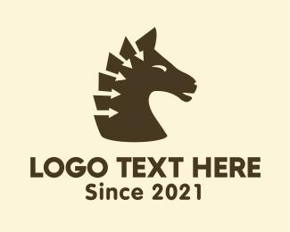 Equestrian - Arrow Horse logo design