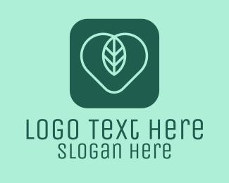 App - Leaf Heart App logo design