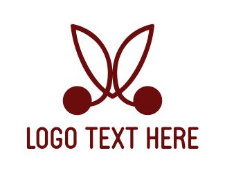 Cherry Blossom - Red Cherries logo design