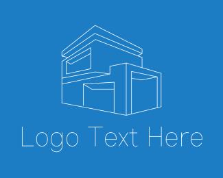 Building - Geometric House Building logo design