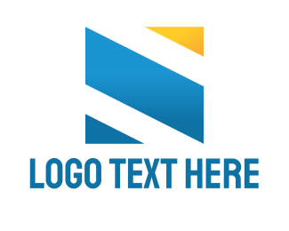 Blue And Yellow - Abstract Square logo design