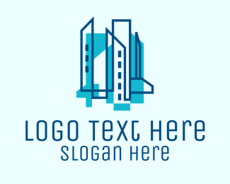 City Hall - Blue Architectural Company  logo design
