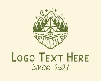 Hills - Outdoor Adventure Camp  logo design