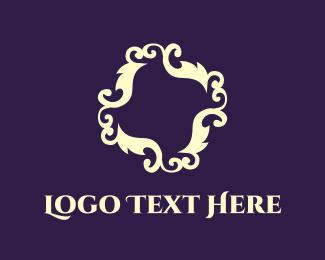 Curves - Floral Framing logo design