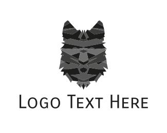 Wolf - Black Wolf Face logo design