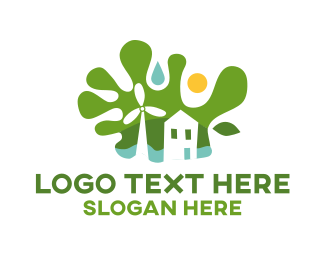 Sustainability - Green Sustainable House logo design